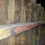 balk onderkant na reparatie